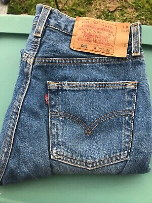 Vintage Levi's 501 Jeans Women Made in USA  27 1/2 W X 29 LView Payment