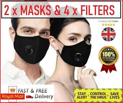 Face cover cotton washable carbon filter Face Mask mouth nose reusable Adult