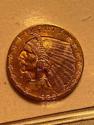 1925 D 2.5 US Dollar Gold Indian Head Eagle Coin Key Date