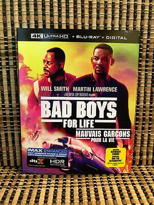Bad Boys For Life 4K (2-Disc Blu-ray,2020)+Slipcover.Will Smith/Lawrence.Part 3