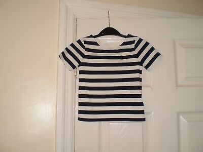 """Blouse""""Polo Ralph Lauren""""White Navy Colour  Size: 4/4T (UK) 110/56 Used"""