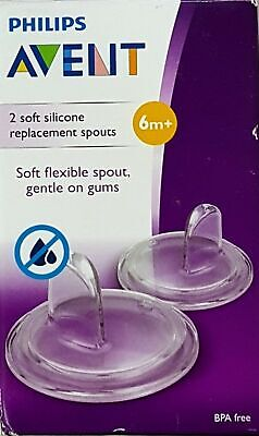 - NEW - Philips Avent Replacement Cup Spout - Soft Silicone - 6+ Months