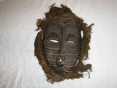 """Antique African Tribal Mask - 15"""" Hand Carved Wood Mask - Ships Free"""