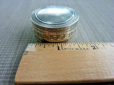 Antique French 800 Silver Rouge - Pill Box  (56125)