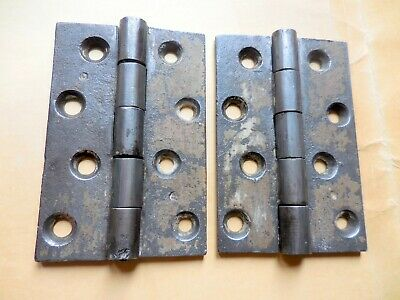 "Pair of Antique CAST IRON BUTT HINGES 4"" x 2 5/8"""