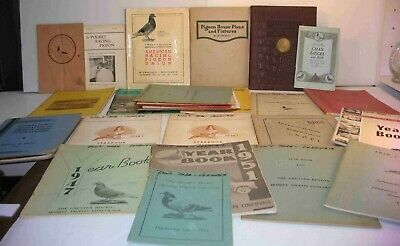 Huge Lot RACING Homing PIGEON Books BOSTON CONCOURSE YEARBOOKS 1929-1960'S