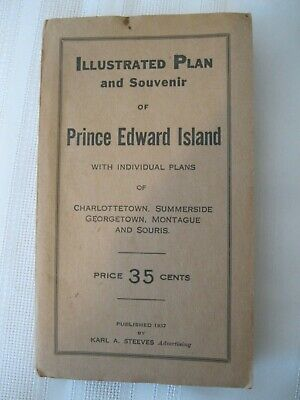 1937 Illustrated Plan and Souvenir of Prince Edward Island Folding Map