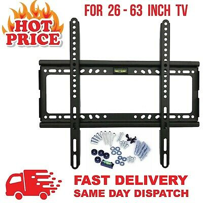 Tv Wall Bracket Mount Slim For 26 30 32 40 42 50 63 Inch Include Spirit Level