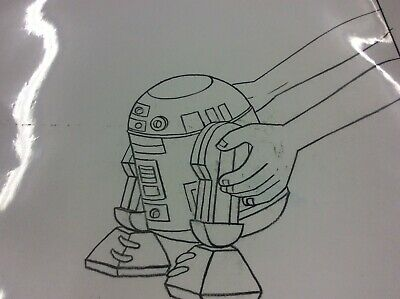 Droids: The Adventures of R2-D2 and C-3PO Production Pencil Cel