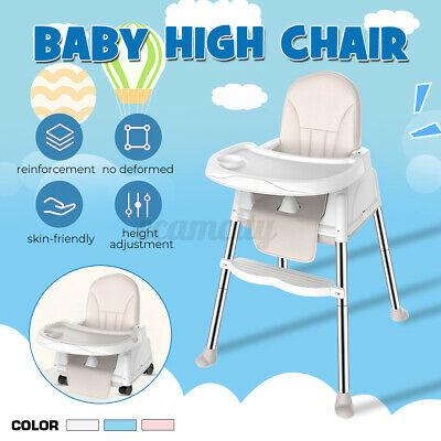 3 in 1 Baby High Chair Adjustable Table Seat Booster Toddler Feeding
