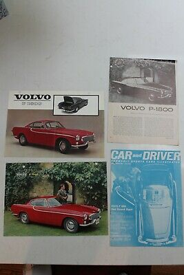 4 pieces early 1960s Volvo P 1800 literature