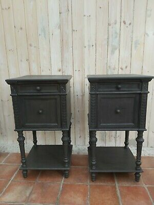 A Pair of genuine Victorian bedside cabinets
