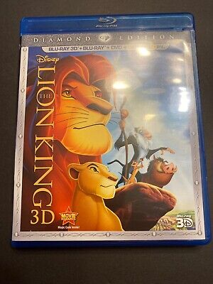 The Lion King (Blu-ray/DVD, 2011, 2-Disc Set, Diamond Edition; 3D) *Read*