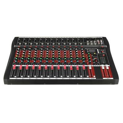 Professional 12 Channel audio Mixing Console With Amplifier Mixer Bluetooth USB