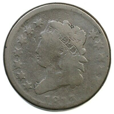 1813 S-292 R-2 Classic Head Large Cent Coin 1c