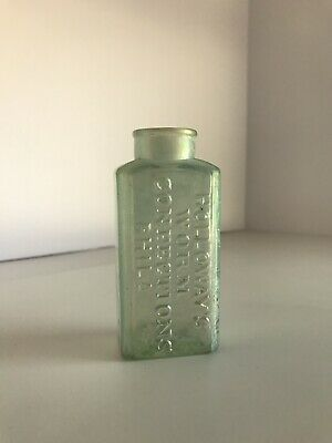 Antique Holloway's Worm Confections Philadelphia Bottle 3 3/4 Inches