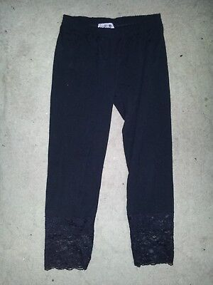 Kids Girls Leggings with lace bottom, size XS Ice brand