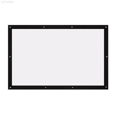 F9E4 Foldable HD Projection Curtain Projector Screen 84inch Home Cinema Wedding