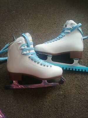 Graf Bolero Ice Skates Size 36 with 2 x laces and 1x guards (used 6 times)