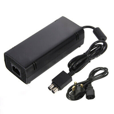 Power Supply Cable For Xbox 360 Slim AC Brick Adapter UK Plug Mains Charger 135w