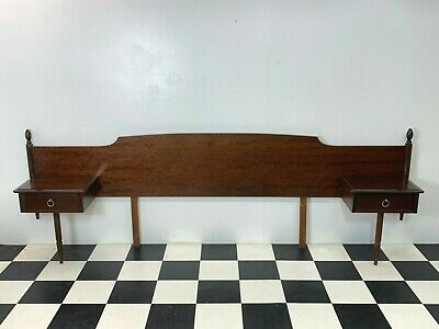 Vintage Stag Minstrel headboard with bedside drawers nightstands double kingsize