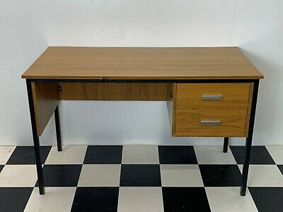 Vintage retro mid century teak formica office home desk table Delivery Available