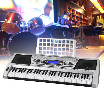 61-Key Digital Music Electronic Keyboard Electric Piano Instrument Play Practice