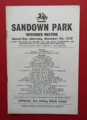 1970 Sandown Ackermann Trophy - Moyne Royale, Persian War, Royal Relief, Specify