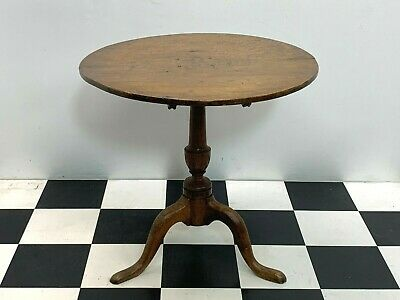 Antique victorian oak flip top pedestal side occasional table Delivery Available