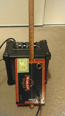 Cigar Box Guitar (diddley bow) 1 String Handmade with Video Demo