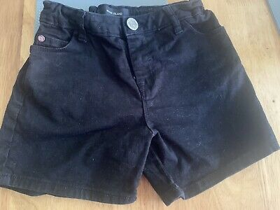 Girls River Island Black Shorts Size 7-8 Years