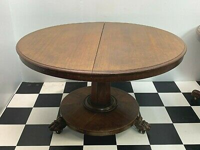 Antique Victorian flip top mahogany dining table with carved claw feet Delivery