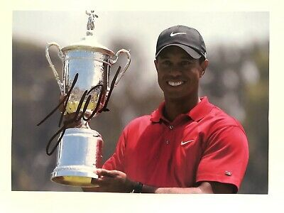 Tiger Woods Signed Photo Golf