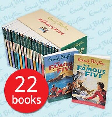 The Famous Five Collection 22 Books Box Set by Enid Blyton - Brand New & Sealed