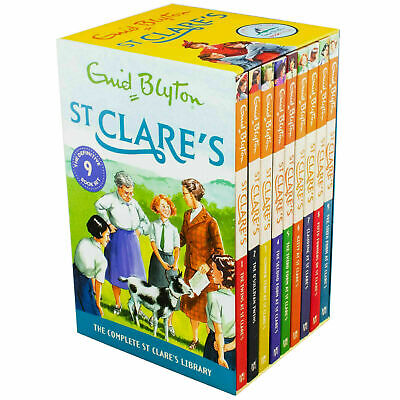 St Clares 9 Books Collection Box Set by Enid Blyton - Brand New and Sealed
