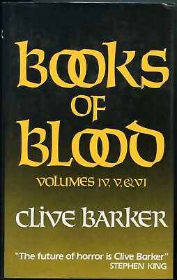Clive Barkers Books of Blood Vol 3,4,5  First Printing Hardback