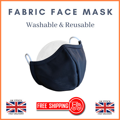 Mask Face Washable Breathable Reusable Fabric Unisex Nose Mouth Cover Layer
