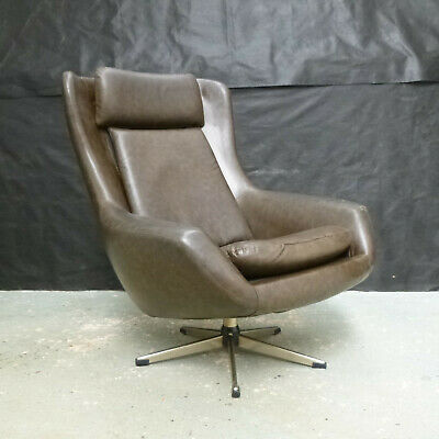 EB634 Danish Bucket Swivel Chair Vintage Retro Mid-Century Modern Lounge Seating