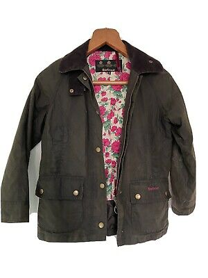 Girl's Barbour Wax Jacket - Size M (9 Years Old)