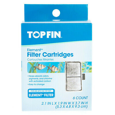 Top Fin Element Filter Cartridge EF-S  6 Count Free Ship