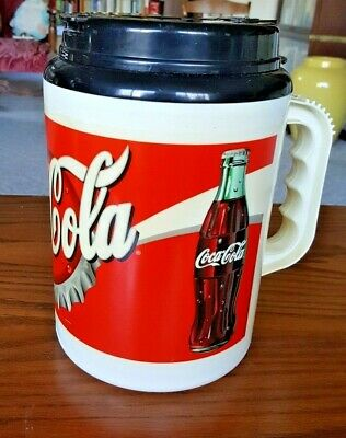 Vintage Pre-2000 Coca-Cola Classic Insulated Travel Cup Mug 64 Oz Whirley USA