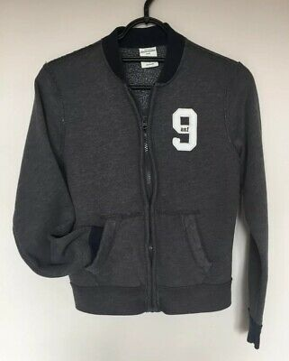 Abercrombie Kids Boys 9 Yrs Fleece Lined Grey Zip Up Jacket - Used