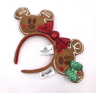 2019 Christmas Holiday Gingerbread Rare Ears Disney Parks New Kids Gift Headband