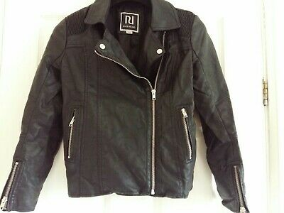 Girls River Island Jacket, Faux Leather, Age 11 Years