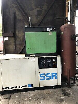 Ingersoll Rand SSR MH45 screw compressor with dryer And Receiver