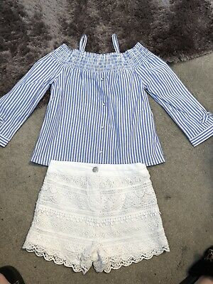 River Island Girls Summer Outfit Bardot Top New 2-3