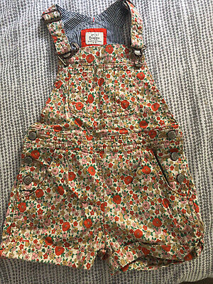 Mini Boden 4-5 Years Girls Floral short dungarees