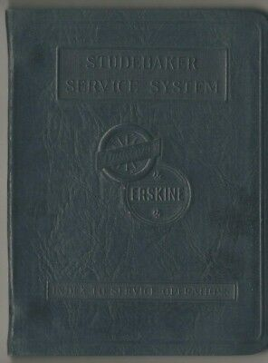 Studebaker Erskine Service Systems Notebook with Alphabetical Index