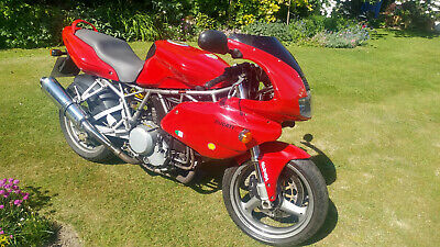 2001 DUCATI 750 SPORT IE AIR COOLED SS 17K Miles CLASSIC BIKE RED