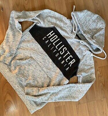 Ladies Grey Hollister Hoodie Size XS